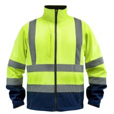 DEDRA BH80KS3-M softshell dzseki fényvisszaverős, méret: m, sárga
