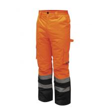 DEDRA BH80SP2-L bélelt nadrág fényvisszaverős, méret l, narancs munkaruha