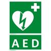 Defibrillatorok.hu - Magyarország Defibrillátor jelző műanyag tábla AED felirattal (15x25 cm)