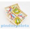 Dekor öntapadós napernyő dobozban fa rózsaszín-kék-fehér-sárga 2féle