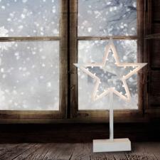 Dekortrend Csillag ablakdísz LED világítással (elemes) karácsonyi dekoráció