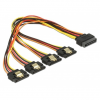 DELOCK 15 pin-es SATA kábel > 15 pin-es SATA tápcsatlakozó kimeneti 4 x egyenes 30 cm