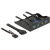 DELOCK 3.5 elülső panel > 2 x USB 3.0 + HD-Audio