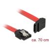 DELOCK 6 Gb/s sebességet biztosító SATA-kábel egyenes csatlakozódugóval > felfelé néző SATA-csatlako
