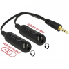DELOCK Adapter Cable audio splitter stereo jack male 3.5 mm 3 pin > 2 x stereo jack female 3.5 mm