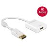 DELOCK Adapter Displayport 1.2 male > HDMI female 4K Active white