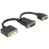 DELOCK Adapter DMS-59 male > DVI 24+5 female + VGA female 20 cm