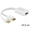 DELOCK adapter, HDMI-A (M) -> Displayport (F) + USB