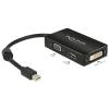DELOCK Adapter mini Displayport 1.1 male VGA / HDMI / DVI female Passive black