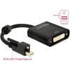 DELOCK Adapter mini Displayport 1.2-dugós csatlakozó csavarral > DVI-csatlakozóhüvely 4K aktív feket