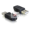 DELOCK Adapter USB micro-A+B female to USB2.0-B male