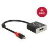 DELOCK Adapter USB Type-C male > Displayport female (DP Alt Mode) 4K 60 Hz (3 év)