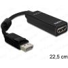 DELOCK Átalakító Displayport 1.1 male to HDMI female passzív, fekete