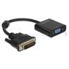 DELOCK Átalakító DVI-D 24+1 male to VGA female, fekete (DL65658)