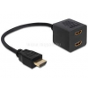 DELOCK Átalakító HDMI male to 2x HDMI female (DL65226)