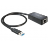 DELOCK Átalakító USB 3.0 to Gigabit LAN, fekete