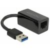 DELOCK Átalakító USB 3.0 to Gigabit LAN kompakt, fekete