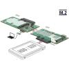 DELOCK Átalakító, USB 3.1-es Micro-B-csatlakozóhüvely > 1 x SATA / 1 x M.2 aljzat B nyílással / 1 x