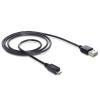 DELOCK Cable EASY-USB 2.0-A male Micro USB 2.0 male 2 m
