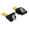 DELOCK cable SATA 10cm down/straight metal yellow