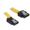 DELOCK Cable SATA 30cm up/straight metal yellow
