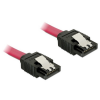 DELOCK Cable SATA 6 Gb/s 20 cm straight/straight metal red