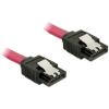 DELOCK Cable SATA 6 Gb/s 30cm straight/straight red