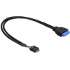 DELOCK Cable USB 3.0 pin header female > USB 2.0 pin header male 60 cm