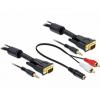 DELOCK Cable VGA + Sound 5m male-male (84454)