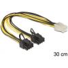 DELOCK Delock Cable PCI Express power supply 6 pin female > 2 x 8 pin male 83433