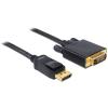 DELOCK Displayport 1.2 male to DVI 24+1 male, 1m kábel