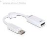 DELOCK Displayport -> HDMI M/F adapter fehér