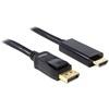 DELOCK DisplayPort - HDMI kábel 1m