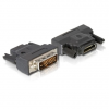 DELOCK DVI-D -> HDMI M/F adapter fekete