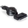 DELOCK eSATAp -> SATA 22pin M/F adatkábel 1.2m behúzható fekete
