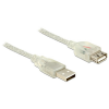 DELOCK Extension cable USB 2.0 Type-A male USB 2.0 Type-A female 2m transpar