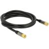 DELOCK F F/F antenna kábel 2m RG-6/U fekete