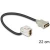 DELOCK HDMI F/F Keystone modul 0.22m 110°