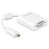 DELOCK HDMI micro D -> VGA Jack stereo 3,5mm M/F adapter 0.17m fehér