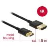 DELOCK HDMI Mini HDMI Átalakító Fekete 1.5m 84777