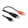 DELOCK kábel, 2db USB-A 2.0 apa - USB mini 5 tûs (82447)