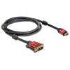 DELOCK kábel HDMI male to DVI male, 2m