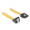 DELOCK kábel  SATA le/egyenes  fém  70 cm  sárga