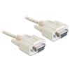 DELOCK kábel serial Null modem 9 pin F/F  3 m