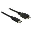 DELOCK Kábel SuperSpeed USB (USB 3.1, Gen 2) USB Type-C™ dugó > USB Micro-B típusú dugó 1 m fekete