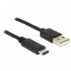 DELOCK KÁBEL USB 2.0 TYPE-A MALE TO USB 2.0 TYPE-C MALE, 0.5M (DL83326)