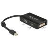 DELOCK KELLÉK DELOCK Adapter mini Displayport 1.1 male to VGA/HDMI/DVI female passzív (62631)