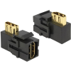 DELOCK Keystone Module HDMI female > HDMI female 90° angled black
