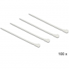 DELOCK Kioldható kábelkötegelők, fehér szín, 200 x 4,8 mm (H x Sz), 100 darab