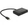 DELOCK Mini Displayport 1.2-es elosztó 1x mini Displayport-bemenet>2 x HDMI-4K
